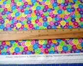 Multi Packed Buttons Seams Like Fun cotton quilting fabric by Denise Urban for Quilting Treasures