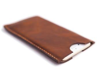 Full Grain Leather iPhone 6 Plus Sleeve