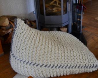knitted  bean bag chair