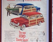 1950 Ford Country Squire Woody  Original Magazine Ad
