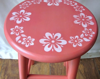 Coral Stool Bedside Night Table Nightstand