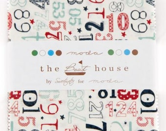 """SALE - The Boat House - Charm Pack The Boat House Moda Fabrics 5"""" Charm Pack"""