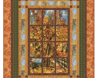 Quilt Pattern - Welcome To The Lake - PDF INSTANT DOWNLOAD- Beautiful Window Quilt