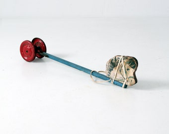 1940s horse pull toy by N.N. Hill Brass Company