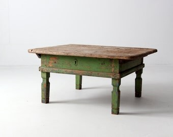 antique Italian table, coffee table with sliding storage
