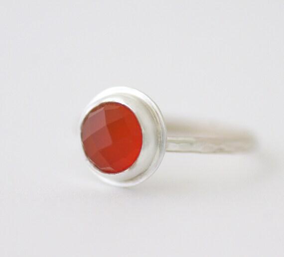 Carnelian Ring in Sterling