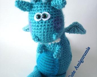 Crochet Pattern, Amigurumi Dragon, Dinosaur Pattern