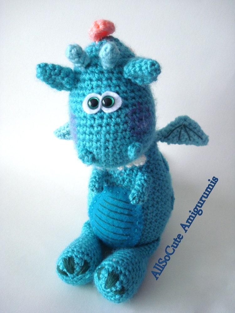 Amigurumi Dinosaurio Patron : Crochet Pattern Amigurumi Dragon Dinosaur Pattern by AllSoCute