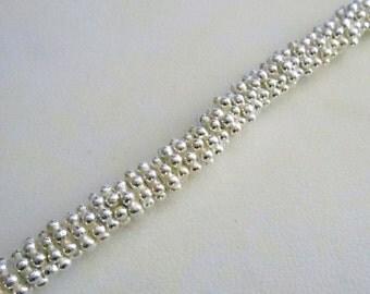 Bright Silver Daisy Spacer - 6mm - .999 Silver Over Copper