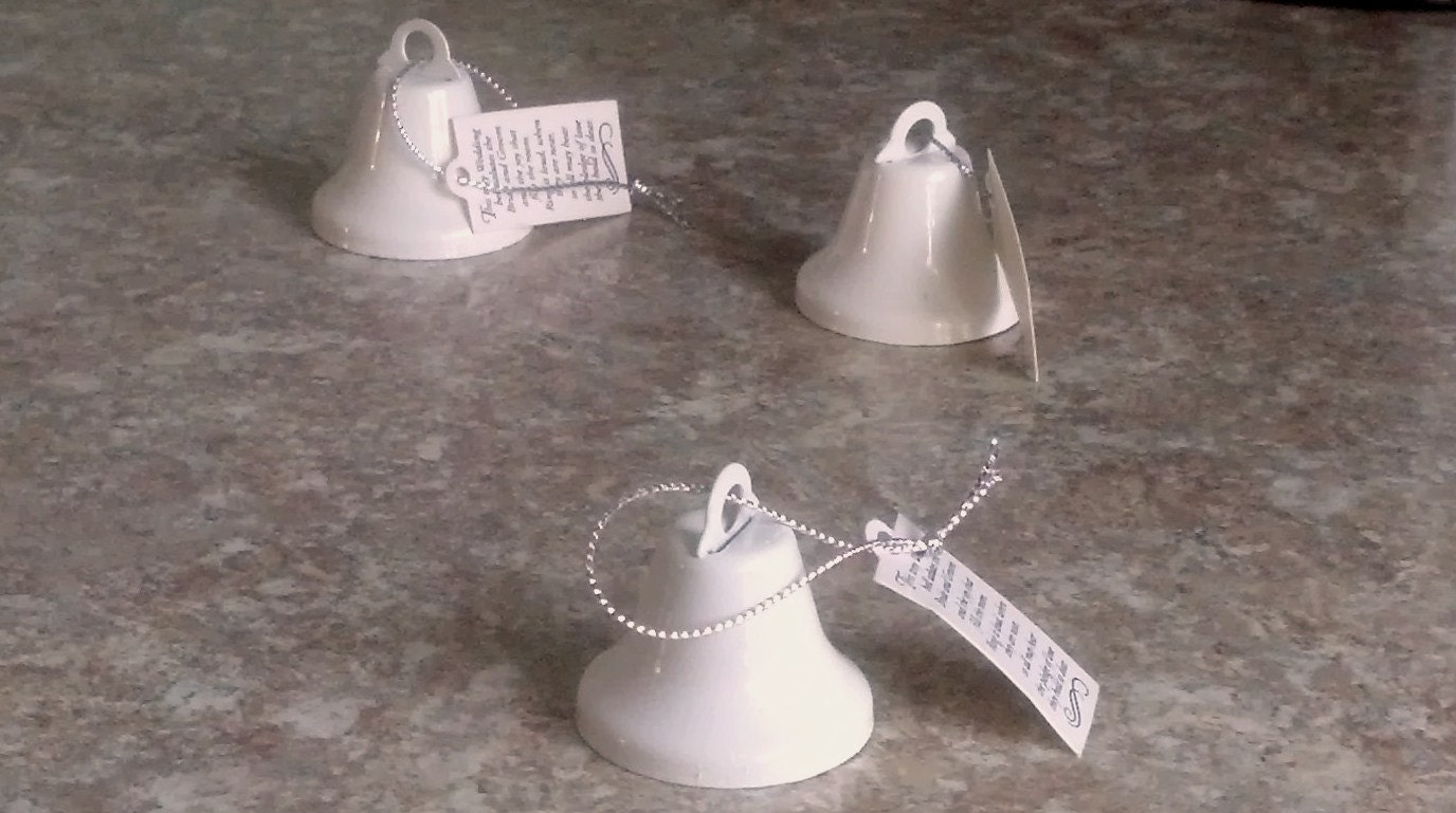 Ring For A Kiss White Wedding Bells Rustic Cottage Chic Bridal