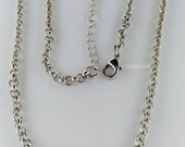 Clearance sale-15 pcs  antique silver finished  rolo chains-with clasps and extender chain-F1369