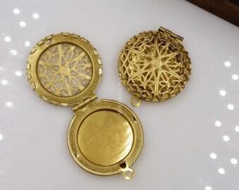 Wholesale-10 PCS brass Lockets --vintage fashion pendant-F14