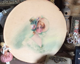 3 Antique Victorian Lady Portrait Water Colors That Are Beyond Chic