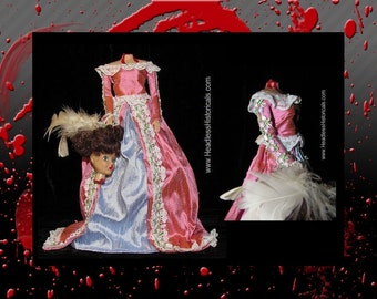 Princess Helene doll - Guillotined during the French Revolution. Gruesome effigy doll by Headless Historicals.