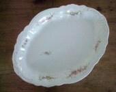 Vintage Ironstone Platter - W. H. Grindley  England - Pink Floral