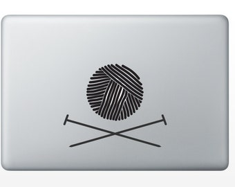 Yarn and Needles Decal