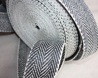 55 mm Cotton+Linen Tape Gorgeous Natural material - Great for Belts, Bag straps or Rug binding