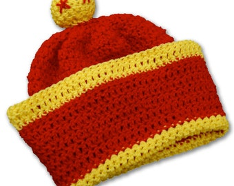 Crochet Hat Pattern - Son Gohan Pattern - DragonballZ Inspired Hat Pattern