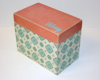 Recipe Box, 4x6 Box, 4 x 6 Custom - You Design It Handmade Personalized Wooden Recipe Box, Address File, Wedding Guest Book Box