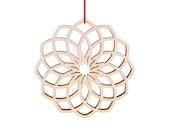 dahlia winter flower ornament