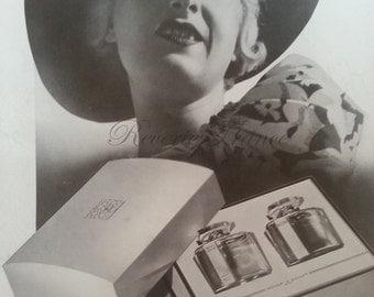 Original Vintage Art Deco French Ad Roger et Gallet 1935