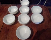 ANTIQUE MILK GLASS bowls, 8 available, midcentury, minimalist,  dessert, dipping bowls, party