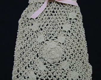 Charming Vintage Crocheted Bag, Pouch, Great Condition