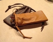 Leather Sunglasses Case - Eyeglass Case -  Pouch Bag -  Fine Leatherr - Eyeglass Holder