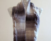 Handknit Gray Infinity Cable Scarf unisex winter scarf long loop scarf chunky scarf winter infinity scarf knit scarf for men scarf men