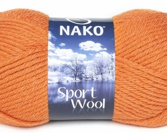 Nako Knitting Yarn Nako sport woll Tangerine Orange chunky yarn turkish yarn scarf knitting wool hat knitting wool buy yarn online
