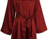 Burgandy Silk Robes, Monogrammed Silk Robes for Bridesmaids, Bridesmaids Silk Robes, Bridesmaids Robes, Brides Robe, Bride Robe Monogrammed
