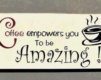 Coffee Wood Sign Kitchen Coffee Decor Coffee Shop Sign Coffee Gift