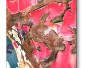 "14"" x 14"" Metal Wall Art, Peeling Paint, Rusty, Junk Yard, Fine Art Photography by Glennis Siverson"