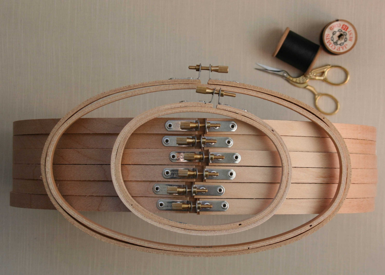 8 X 12 Inch Oval Embroidery Hoop Light Weight Wood. Large