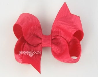 Hair Bow French Pink - girls hair bows - toddler hair bows - baby hair bows - little girl hairbows - 3 inch bows - girls hair clips barrette