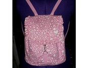 michel miller heart print backpack with frill. adjustable straps  One only