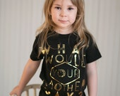 Mother - Gold Foil - girls graphic tee - 2t to 6