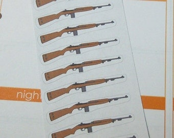 Rifle Stickers-Set of 24