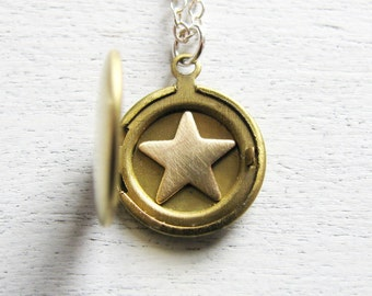 Graduation Gift, Personalized Locket, Gift for Graduate, Personalized Teen Gift, Gift for Teen, Gift for Teenager, Star Jewelry, Celestial
