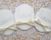 Reserved Table Cards - Signs - Table Numbers  - Choose your colors