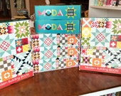 Moda Building Blocks Quilt Kit Pattern Bella Solids Large Throw Size Modern Designer Fabrics DIY Do It Yourself Project