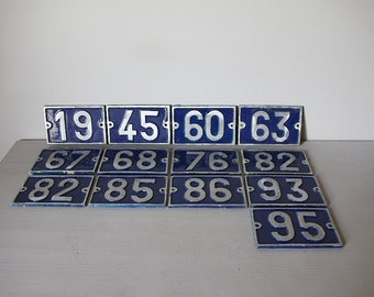 ONE Vintage French Traditional House Number Loft Living, Select your Number  45, 60, 63, 67, 68, 76, 82, 85, 86, 93, 95