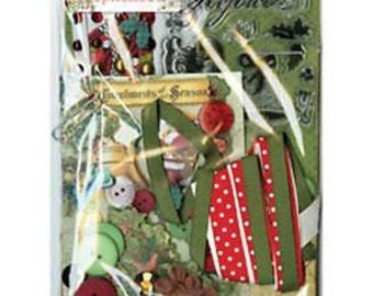 "BoBunny ""Christmas Collage"" Collection Ephemera"