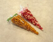 """25 Clear Triangle Cellophane Bags, Candy Bags, Carrot Bags, Party Favor--Measures 12"""" x 6"""""""