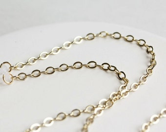 Simple Gold Eyeglass Chain, Gold Glasses Chain, Gold Eyeglass Necklace, Gold Reading Glasses Chain, Gold Eyeglass Holders, Gold Lanyard