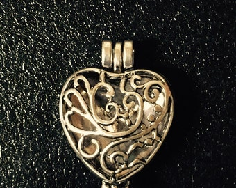 Antique Silver Heart Locket Pendant