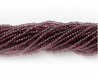 Preciosa Czech Seed Beads 11/0 Transparent Purple