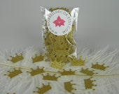 Confetti Gold Glitter | Gold Princess Prince Crowns | Gold Party Decoration Table Scatter | Princess Party |  Bachelorette party Decor