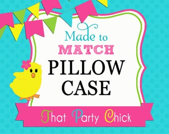 Made to Match Printed Pillow Case