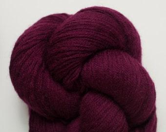 Wine Recycled Merino Sport Weight Yarn, 1408 Yards Available in 4 Skeins, Reclaimed Wool Yarn, Pure Merino Yarn, Sport Weight Wool